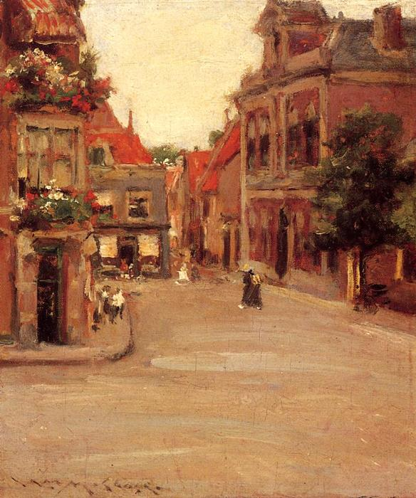 les toits rouges de haarlem, Huile de William Merritt Chase (1849-1916, United States)