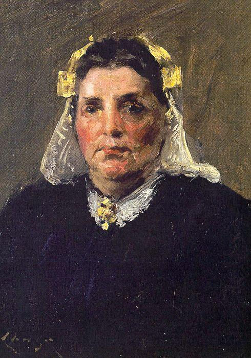Femme de Hollande, huile sur toile de William Merritt Chase (1849-1916, United States)
