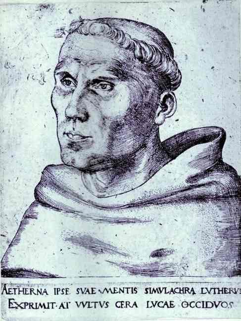 Portrait de Martin Luther comme Monk, huile de Lucas Cranach The Elder (1472-1553, Germany)