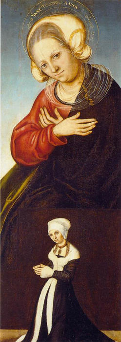 St . Anne, Huile de Lucas Cranach The Elder (1472-1553, Germany)