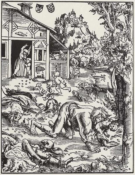 Loup-garou, huile de Lucas Cranach The Elder (1472-1553, Germany)