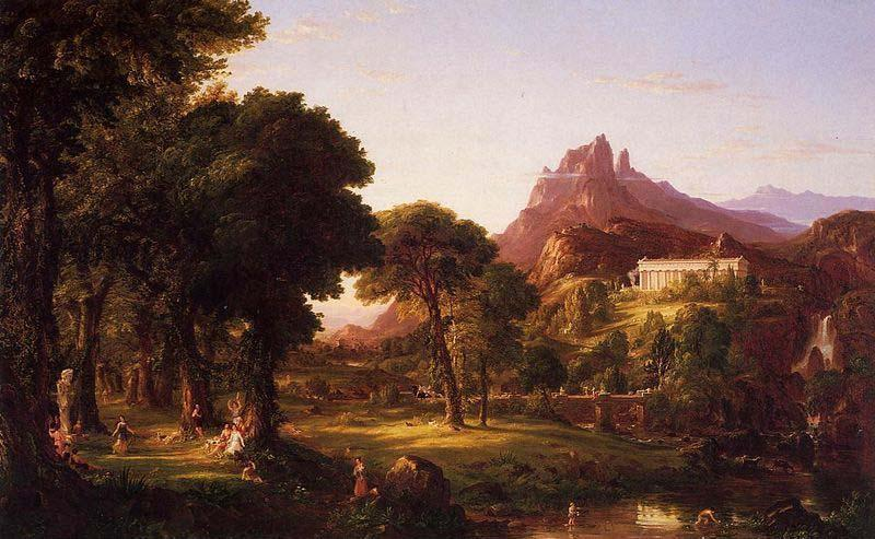 Dream of Arcadia, huile sur toile de Thomas Cole (1801-1848, United Kingdom)
