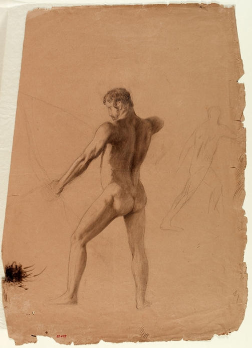 Male Nude avec Bow and Arrow, huile de Thomas Cole (1801-1848, United Kingdom)