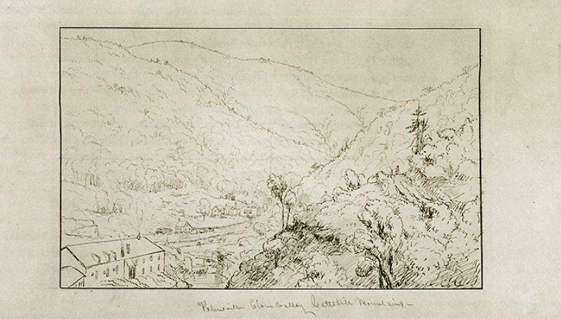 Palenville, clou de girofle Valley, illustration de Thomas Cole (1801-1848, United Kingdom)
