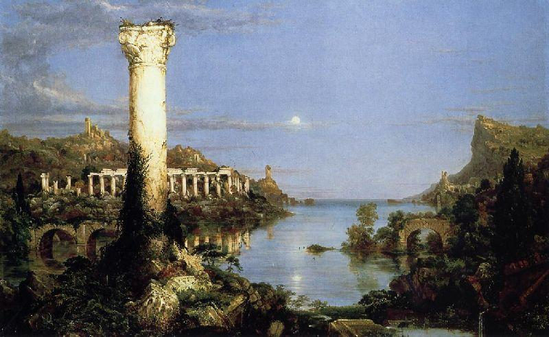 La Course de l Empire, la Désolation, huile de Thomas Cole (1801-1848, United Kingdom)