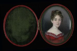 Anna Claypoole Peale - femme dans a rouge robe