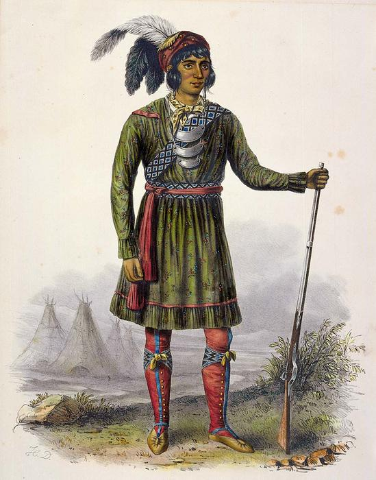 ASSEOLA, UN LEADER SEMINOLE, huile de Charles Bird King (1785-1862, United States)