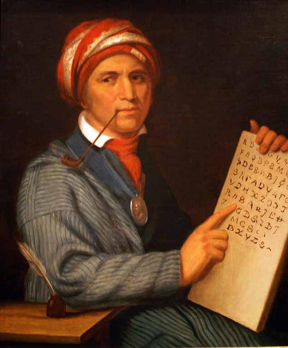Sequoyah, huile de Charles Bird King (1785-1862, United States)