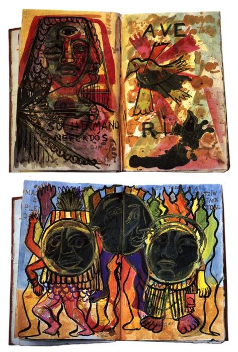 pages Diary 2  , dessin de Frida Kahlo (1907-1954, Mexico)