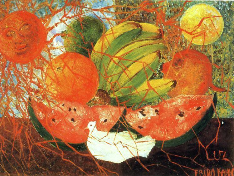 fruits de la vie, Huile de Frida Kahlo (1907-1954, Mexico)
