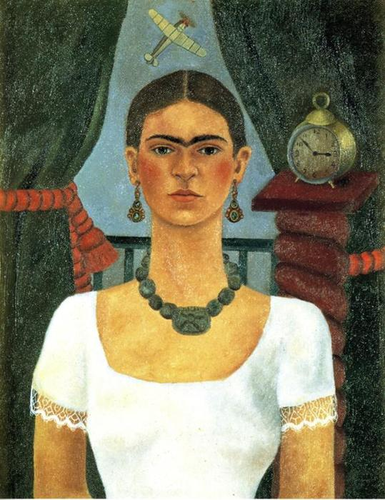 Self-Portrait 4, huile de Frida Kahlo (1907-1954, Mexico)