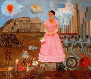 Frida Kahlo - Self-Portrait sur l Borde..