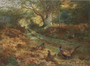 Archibald Thorburn - Le Bridle Path