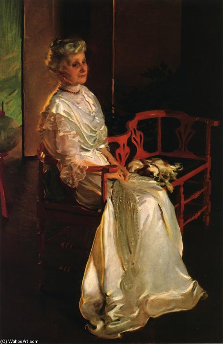 Mme . richard low divine , born susan sophia Forgeron 1, Huile de Cecilia Beaux (1855-1942, United States)