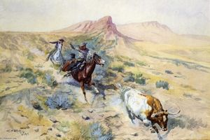 Charles Marion Russell - Le Herd Quitter