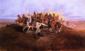 Charles Marion Russell - le guerre fête