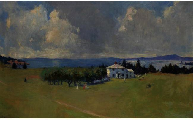 Wooster Ferme ( la ferme de north haven ), Huile de Frank Weston Benson (1862-1951, United States)