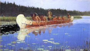 Frederic Remington - Radisson et Groseilliers