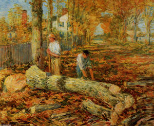Frederick Childe Hassam - Exploitation forestière