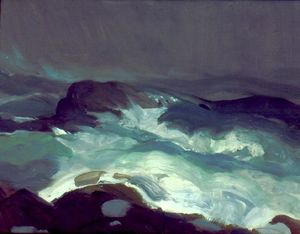 George Wesley Bellows - mer dans brouillard