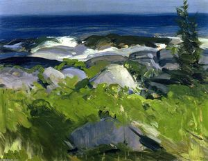 George Wesley Bellows - Vine Clad Shore - Monhegan Island