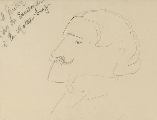 Lucien Guitry, dessin de Henri De Toulouse Lautrec (1864-1901, France)