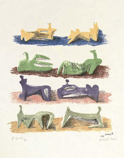huit inclinable chiffres 2 de Henry Moore (1898-1986, United Kingdom) | ArtsDot.com