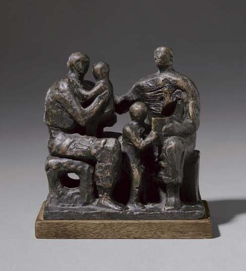 famille groupe 2  , Huile de Henry Moore (1898-1986, United Kingdom)