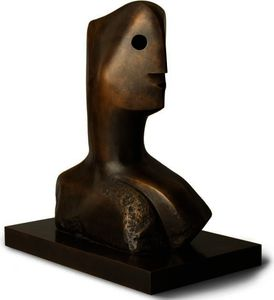 Henry Moore - Tête travail  maquette