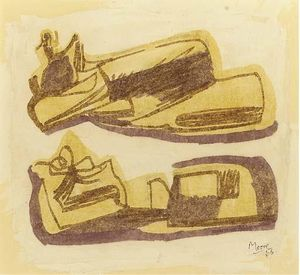 Henry Moore - inclinable chiffres 1