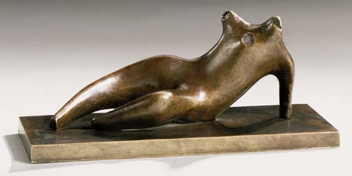 Torse inclinables, huile de Henry Moore (1898-1986, United Kingdom)