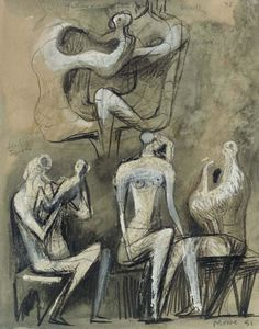 Henry Moore - assis chiffres 1