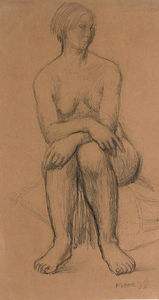 Henry Moore - assis fille