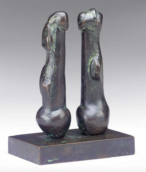 Deux ampoules formes, illustration de Henry Moore (1898-1986, United Kingdom)