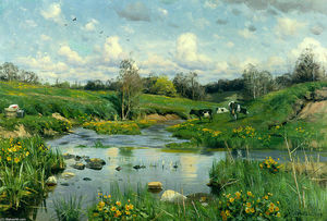 Peder Mork Monsted - Vaches qui paissent