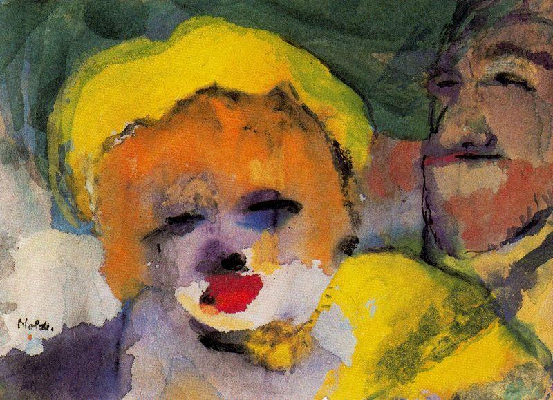 blond fille qui  et  Homme  de Emile Nolde (1867-1956, Germany)
