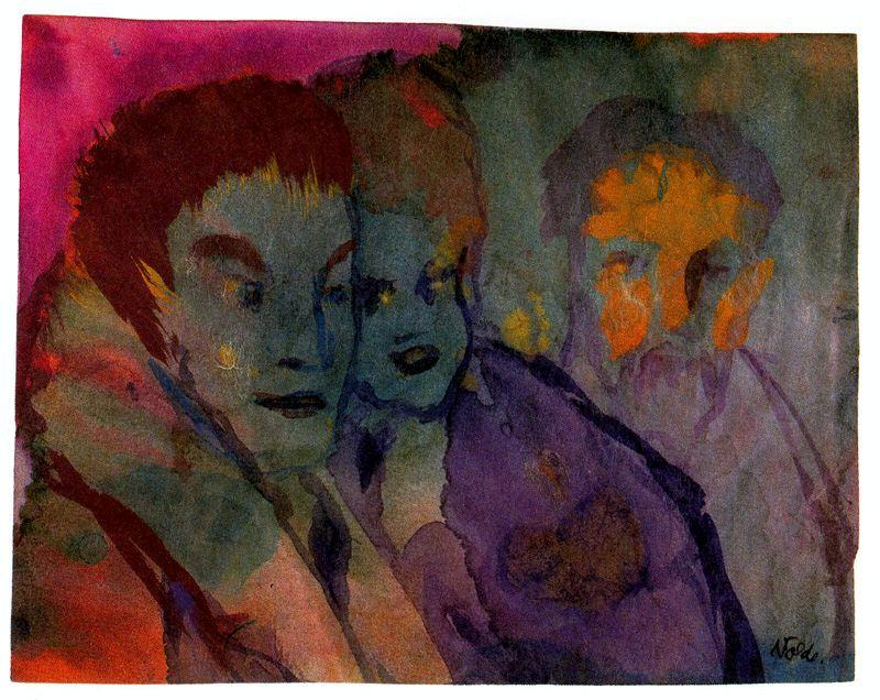 Couple et Beraded Âgés Homme de Emile Nolde (1867-1956, Germany)