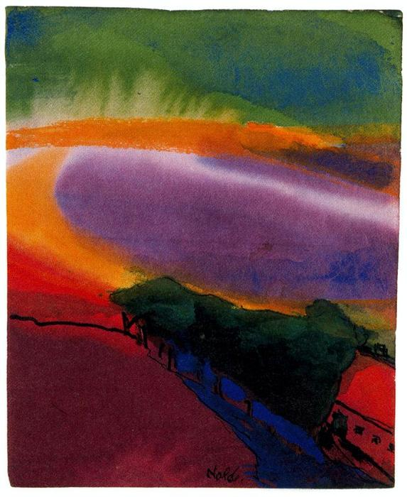 Paysage ( Red-Yellow-Green ) de Emile Nolde (1867-1956, Germany)