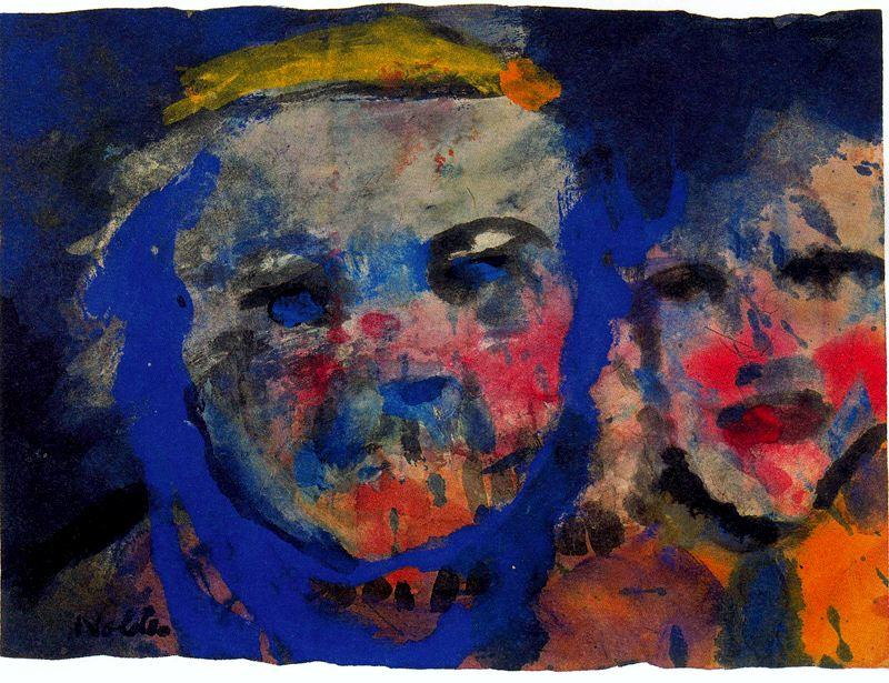 étrange couple de Emile Nolde (1867-1956, Germany)