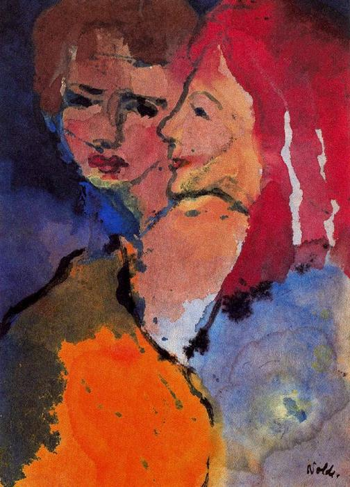 deux dames de Emile Nolde (1867-1956, Germany)