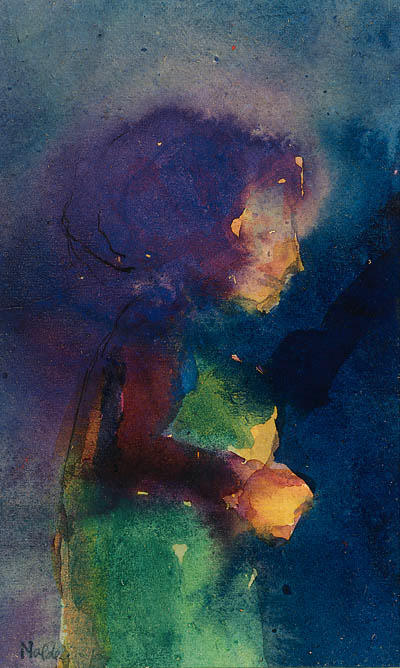 Young fille 1 de Emile Nolde (1867-1956, Germany)