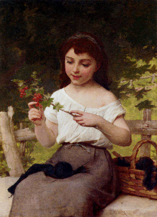 a `sprig` des baies de Emile Munier (1840-1895, France)