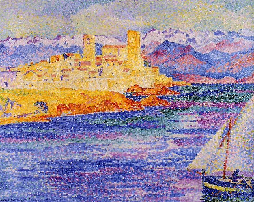 Antibes de Henri Edmond Cross (1856-1910, France) | Reproductions D'art Sur Toile | ArtsDot.com