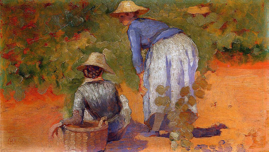 Étude pour Les Pickers raisin »1 de Henri Edmond Cross (1856-1910, France)