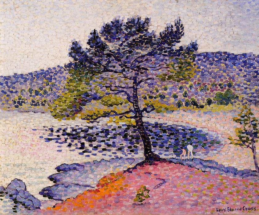 la plage foir  de Henri Edmond Cross (1856-1910, France)