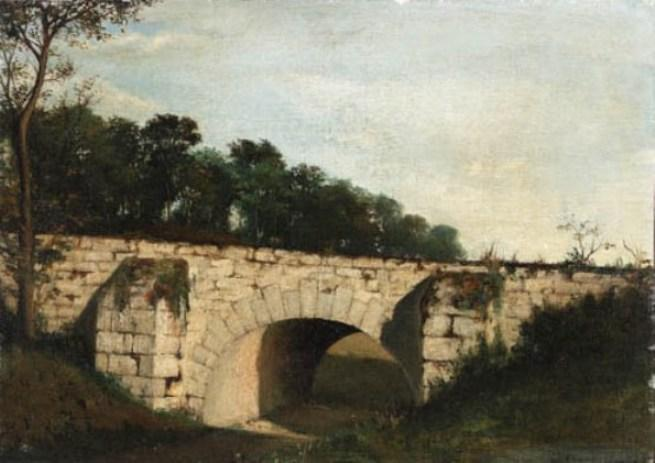 l'ancienne pont de Henri-Joseph Harpignies (1819-1916, France)