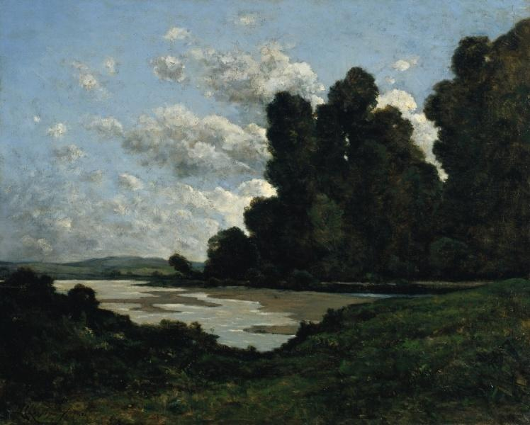 La Loire à Nevers de Henri-Joseph Harpignies (1819-1916, France)