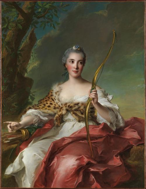 Madame de Maison-Rouge comme Diana de Jean-Marc Nattier (1685-1766, France)