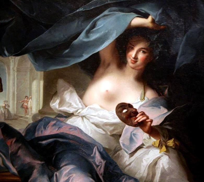 Thalia . Muse of Comédie de Jean-Marc Nattier (1685-1766, France)