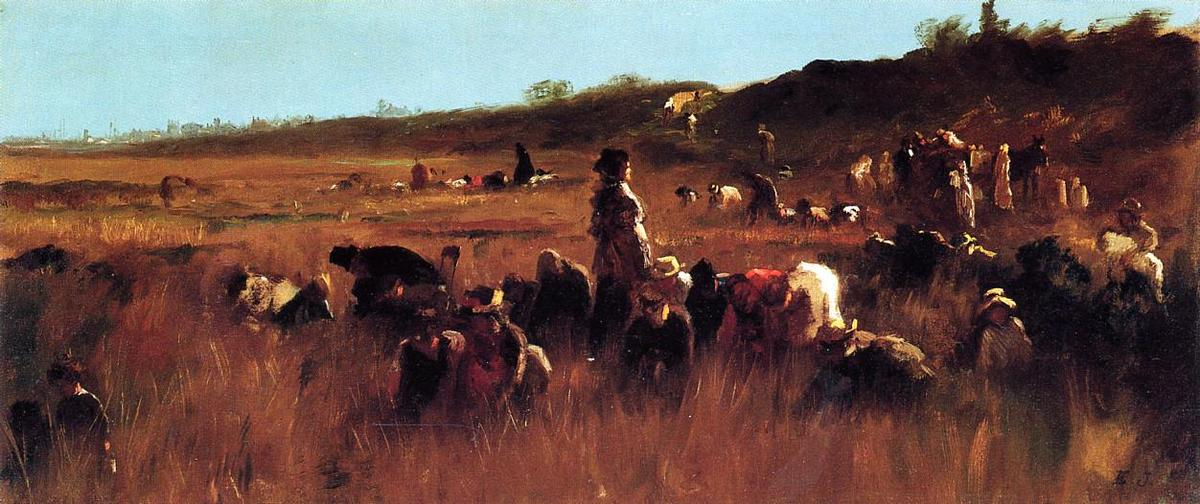 Cranberry Pickers, Nantucket de Jonathan Eastman Johnson (1824-1906, United Kingdom)